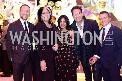 Amb. Peter Selfridge, Tammy Haddad, Parita Selfridge, Marc Adelman, Matthew Ruesch. Photo by Tony Powell. MGM National Harbor Grand Opening. December 8, 2016