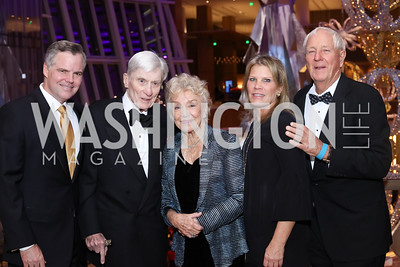 MGM CEO Jim Murren, Sen. John Warner, Carolyn Peterson, Lauren Peterson, Milt Peterson. Photo by Tony Powell. MGM National Harbor Grand Opening. December 8, 2016