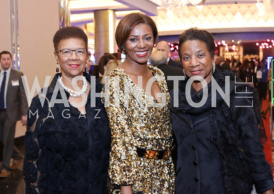 Thelma Duggin, Sela Collins, Amb. Beatrice Walters. Photo by Tony Powell. MGM National Harbor Grand Opening. December 8, 2016