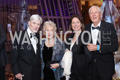 Sen. John Warner, Carolyn Peterson, Jeanne Warner, Milt Peterson. Photo by Tony Powell. MGM National Harbor Grand Opening. December 8, 2016
