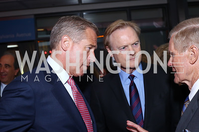 Brian Williams, MSNBC Host Lawrence O'Donnell, Sen. Bill Nelson. Photo by Tony Powell. MSNBC 20th Anniversary. Newseum. June 14, 2016