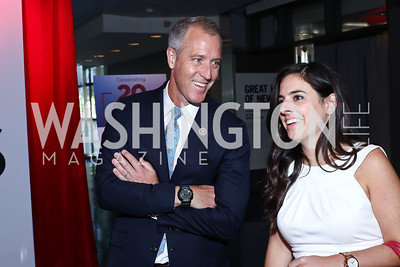 Rep. Sean Patrick Maloney, Caitlin Girouard. Photo by Tony Powell. MSNBC 20th Anniversary. Newseum. June 14, 2016