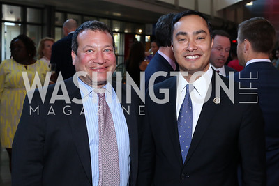 Matt Berzok, Rep. Joaquin Castro. Photo by Tony Powell. MSNBC 20th Anniversary. Newseum. June 14, 2016
