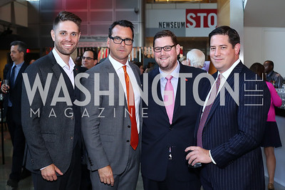 Brendon DelToro, Kenny Day, Adam Weiss, Andrew Kovalcin. Photo by Tony Powell. MSNBC 20th Anniversary. Newseum. June 14, 2016