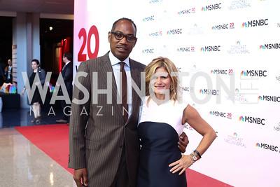 Yebbie Watkins, Melissa Maxfield. Photo by Tony Powell. MSNBC 20th Anniversary. Newseum. June 14, 2016