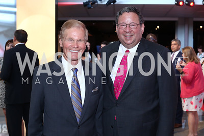 Sen. Bill Nelson, EVP David Cohen. Photo by Tony Powell. MSNBC 20th Anniversary. Newseum. June 14, 2016
