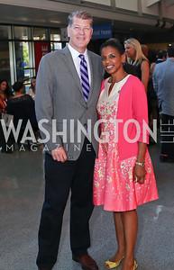 Steve Clemons, Rep. Donna Edwards. Photo by Tony Powell. MSNBC 20th Anniversary. Newseum. June 14, 2016