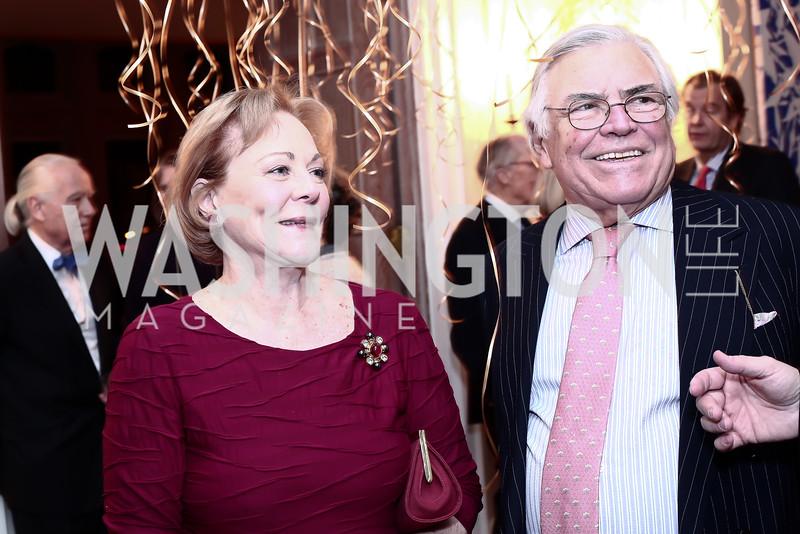 Diane Flamini, Roland Flamini. Photo by Tony Powell. Philippe Auguin Birthday Party. Residence of France. February 18, 2016
