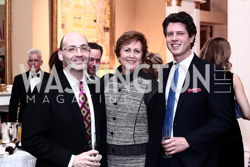 Michael Solomon, Deborah Rutter, Mark Gillespie. Photo by Tony Powell. Philippe Auguin Birthday Party. Residence of France. February 18, 2016