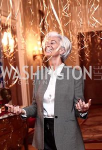 Christine Lagarde. Photo by Tony Powell. Philippe Auguin Birthday Party. Residence of France. February 18, 2016