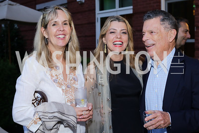 Isabel Ernst, Dalia Fateh, Conrad Cafritz. Photo by Tony Powell. Maria Elena's Birthday Party. June 3, 2016
