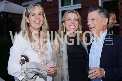 Isabel Ernst, Dalia Fateh, Conrad Cafritz. Photo by Tony Powell. Maria Elena's Birthday Party. June 3, 2016