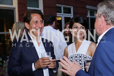 Said and Shamim Jawad, Theo Adamstein. Photo by Tony Powell. Maria Elena's Birthday Party. June 3, 2016
