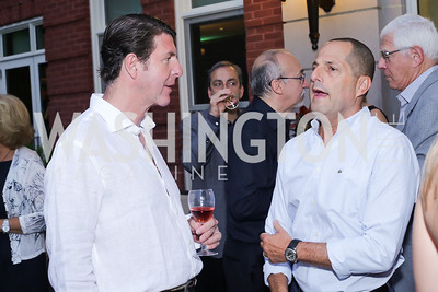 Bruce Bradley, Michael Trager. Photo by Tony Powell. Maria Elena's Birthday Party. June 3, 2016