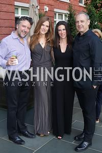 Mario Margolis and Diana Moss, Veronica Valencia and Arturo Sarukhan. Photo by Tony Powell. Maria Elena's Birthday Party. June 3, 2016