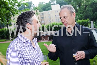 Mario Margolis, Arturo Sarukhan. Photo by Tony Powell. Maria Elena's Birthday Party. June 3, 2016