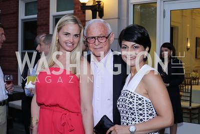 Sharon Bradley, John Mason, Shamim Jawad. Photo by Tony Powell. Maria Elena's Birthday Party. June 3, 2016