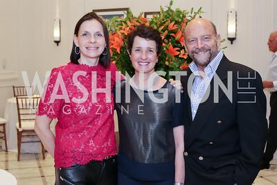 Ludmila Cafritz, Joan Fabry and Michael Stein. Photo by Tony Powell. Maria Elena's Birthday Party. June 3, 2016