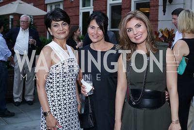 Shamim Jawad, Mojgon Rivera, Yasmine Pahlavi. Photo by Tony Powell. Maria Elena's Birthday Party. June 3, 2016