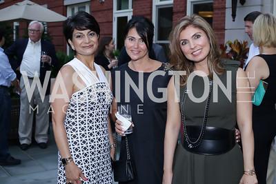 Shamim Jawad, Mojgon Rivera, Yasmine Pahlavi. Photo by Tony Powell. Maria Elena's Birthday Party. June 3, 2016