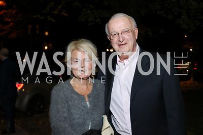 "Ann Fleming and Gordon Peterson. Photo by Tony Powell. Mark Shriver ""Pilgrimage"" Book Party. Matthews Residence. November 17, 2016"