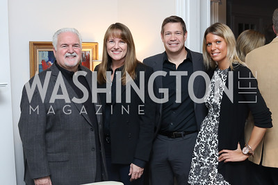 "Jack Diamond, Lisa Diamond, Steve Chenevey, Stephanie Watson. Photo by Tony Powell. Mark Shriver ""Pilgrimage"" Book Party. Matthews Residence. November 17, 2016"
