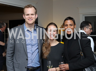 "Tim Shriver, Tamara Day, Tanya Baskin. Photo by Tony Powell. Mark Shriver ""Pilgrimage"" Book Party. Matthews Residence. November 17, 2016"