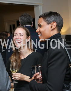 "Tamara Day, Tanya Baskin. Photo by Tony Powell. Mark Shriver ""Pilgrimage"" Book Party. Matthews Residence. November 17, 2016"