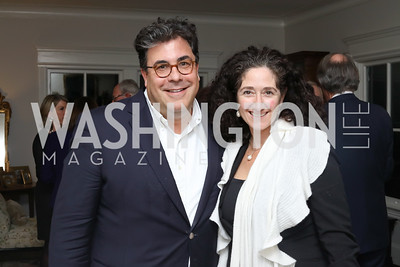 "Alan Fleischmann and Dafna Tapiero. Photo by Tony Powell. Mark Shriver ""Pilgrimage"" Book Party. Matthews Residence. November 17, 2016"