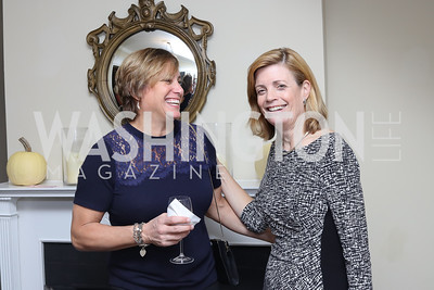 "Grace Melrod, Mary Jordan. Photo by Tony Powell. Mark Shriver ""Pilgrimage"" Book Party. Matthews Residence. November 17, 2016"