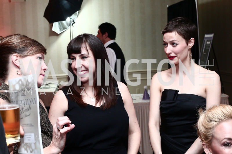 Alison Crosby, Rosanna Broadbent, City Paper Managing Editor Emily Hazzard. Photo © Tony Powell. MYB 45th Anniversary Party. Kenwood Country Club. March 19, 2016