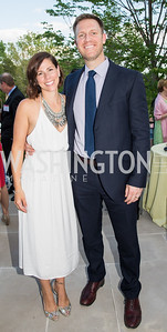 Joanna and Brock Edwards. Photo by Erin Schaff. 2016. McLean Project for the Arts Spring Benefit. The Gardens of Hickory Hill, the historic home of Ashley and Alan Dabbiere. May 24, 2016.