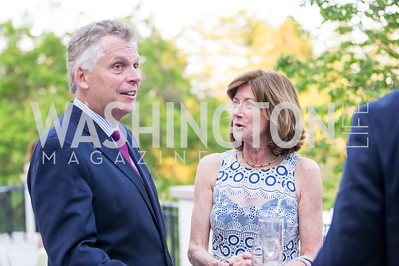 Virginia Gov. Terry McAuliffe, Margi Vanderhye. Photo by Erin Schaff. 2016. McLean Project for the Arts Spring Benefit. The Gardens of Hickory Hill, the historic home of Ashley and Alan Dabbiere. May 24, 2016.