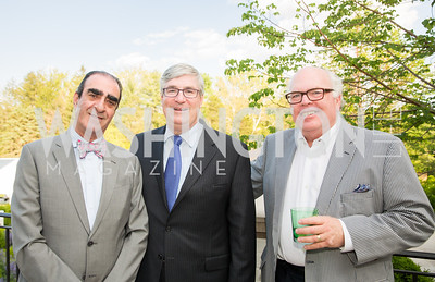 Fuad Sahouri, Joseph Warin, Ken Wiseman. Photo by Erin Schaff. 2016. McLean Project for the Arts Spring Benefit. The Gardens of Hickory Hill, the historic home of Ashley and Alan Dabbiere. May 24, 2016.