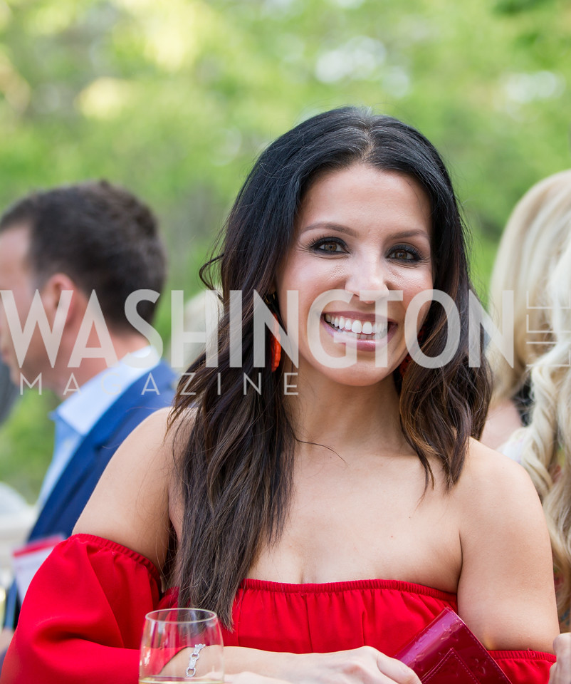 Lily Talakoub. Photo by Erin Schaff. 2016. McLean Project for the Arts Spring Benefit. The Gardens of Hickory Hill, the historic home of Ashley and Alan Dabbiere. May 24, 2016.
