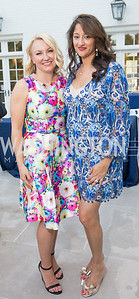 Event Co-Chairs Lindsey Keatley, Sushma Shenoy. Photo by Erin Schaff. 2016. McLean Project for the Arts Spring Benefit. The Gardens of Hickory Hill, the historic home of Ashley and Alan Dabbiere. May 24, 2016.