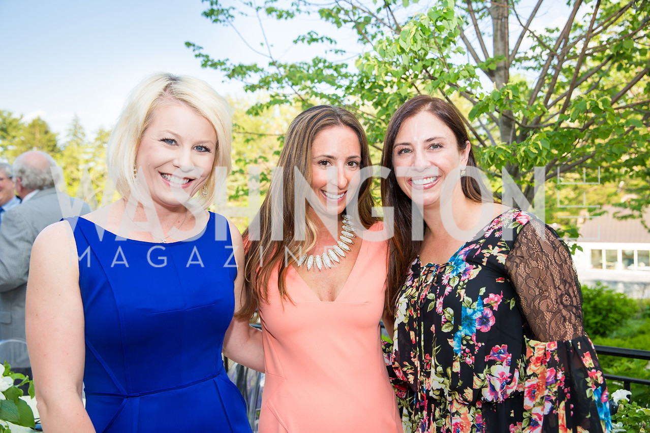 Jenn Riggins, Jen Graham, Sylvia Garfinkle.  Photo by Erin Schaff. 2016. McLean Project for the Arts Spring Benefit. The Gardens of Hickory Hill, the historic home of Ashley and Alan Dabbiere. May 24, 2016.