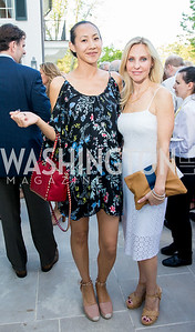 Vicky Muller, Lisa Keogh. Photo by Erin Schaff. 2016. McLean Project for the Arts Spring Benefit. The Gardens of Hickory Hill, the historic home of Ashley and Alan Dabbiere. May 24, 2016.