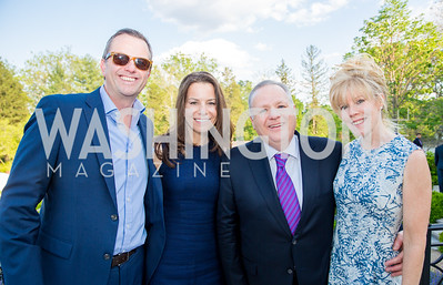 Duncan and Colleen Avis, Tim and Ann Keating. Photo by Erin Schaff. 2016. McLean Project for the Arts Spring Benefit. The Gardens of Hickory Hill, the historic home of Ashley and Alan Dabbiere. May 24, 2016.