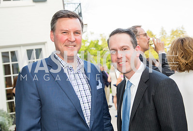 Derrick Swaak, Rob Carney. Photo by Erin Schaff. 2016. McLean Project for the Arts Spring Benefit. The Gardens of Hickory Hill, the historic home of Ashley and Alan Dabbiere. May 24, 2016.