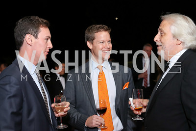 Kieren Emery, Campbell Marshall, Maestro Philippe Auguin. Photo by Tony Powell. Michelin Guide DC Launch Party. Residence of France. September 13, 2016
