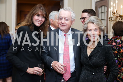 Lynly Boor, Tom Quinn, Bobbie Brewster. Photo by Tony Powell. Michelin Guide DC Launch Party. Residence of France. September 13, 2016