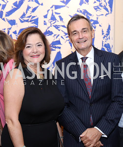 Claire Dorland Clauzel, France Amb. Gerard Araud. Photo by Tony Powell. Michelin Guide DC Launch Party. Residence of France. September 13, 2016