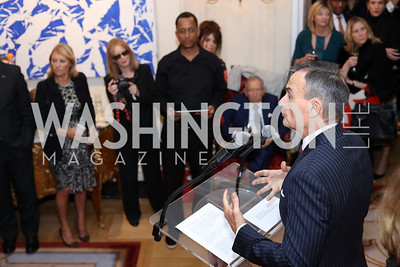 France Amb. Gerard Araud. Photo by Tony Powell. Michelin Guide DC Launch Party. Residence of France. September 13, 2016