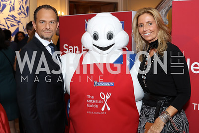 Fiola's Fabio and Maria Trabocchi. Photo by Tony Powell. Michelin Guide DC Launch Party. Residence of France. September 13, 2016