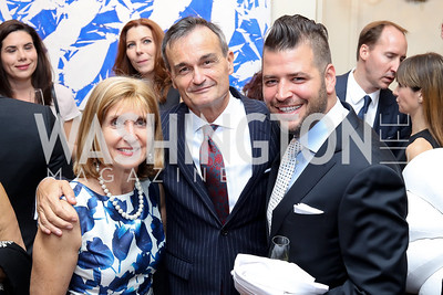 Paula Dobriansky, France Amb. Gerard Araud, Masseria's Nicholas Stefanelli. Photo by Tony Powell. Michelin Guide DC Launch Party. Residence of France. September 13, 2016