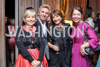 Francesca Craig, Pascal Blondeau, Nora Pouillon, Emily Heil. Photo by Tony Powell. Michelin Guide DC Launch Party. Residence of France. September 13, 2016