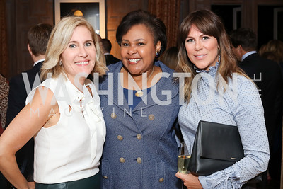 Elizabeth Thorp, Sheryl Wilkerson, Kate Bennett. Photo by Tony Powell. Michelin Guide DC Launch Party. Residence of France. September 13, 2016