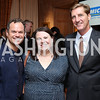 James Alefantis, Julie Sproesser, John Snedden. Photo by Tony Powell. Michelin Guide DC Launch Party. Residence of France. September 13, 2016