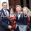 Gerard Araud, Izette Folger, Pascal Blondeau, Jennifer Isham. Photo by Tony Powell. Michelin Guide DC Launch Party. Residence of France. September 13, 2016